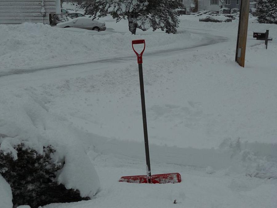 Green stuff shovel